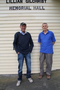 Revell ZL2SS and Peter ZL2LF outside the NARC Clubrooms after the exam. Revell is the one with the happy smile!